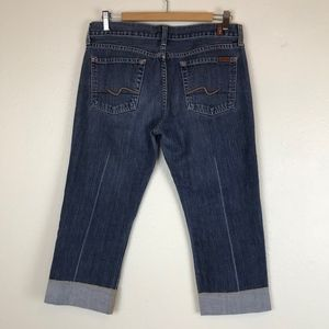 7 For All Mankind Jeans - 7 FOR ALL MANKIND Crop & Cuff Capri, Size 30